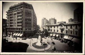 Ak Cairo Kairo Ägypten, Midan Moustafa Kamel, Straßenpartie, Kreisverkehr