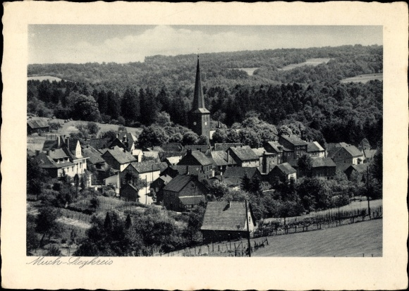 Ak Much in Nordrhein Westfalen, Blick auf den Ort mit Umgebung