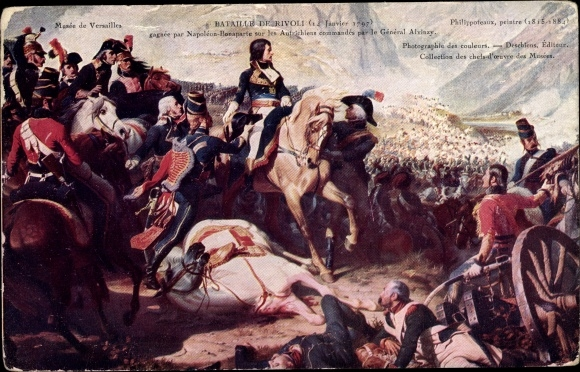 Künstler Ak Philippoteaux, Le Général Bonaparte à la Bataille de Rivoli, 14 Janvier 1797
