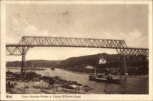 Ak Kiel in Schleswig Holstein, Prinz Heinrich Brücke a. Kaiser Wilhelm Kanal