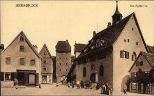 Ak Hersbruck im Nürnberger Land Bayern, Partie am Spitaltor