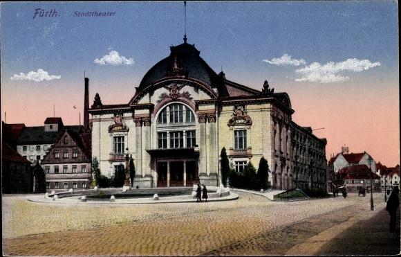 Ak Fürth in Bayern, Partie am Stadttheater