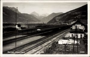 Ak Selztal Steiermark, Bahnhof, Gleisseite, Vogelschau