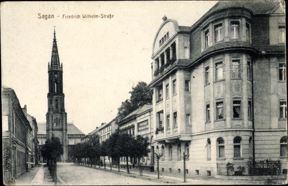 sagan aga friedrich wilhelm strasse evangelische kirche 1932 nr 56804 oldthing. Black Bedroom Furniture Sets. Home Design Ideas