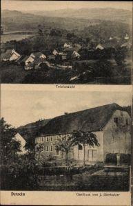 Ak Detzeln Waldshut Tiengen in Baden Württemberg, Gasthaus von J. Hierholzer, Totalansicht von Ort