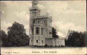 Ak Houyet Wallonien Namur, Tour Leopold, Ardenne, Turm