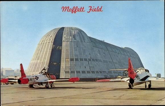 Ak San Jose Kalifornien USA, Moffett Field, US Naval Air Station, Kampfflugzeuge