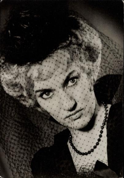 Ak Sängerin Helma Reuter, Bel ami, Operettentheater Dresden, Portrait