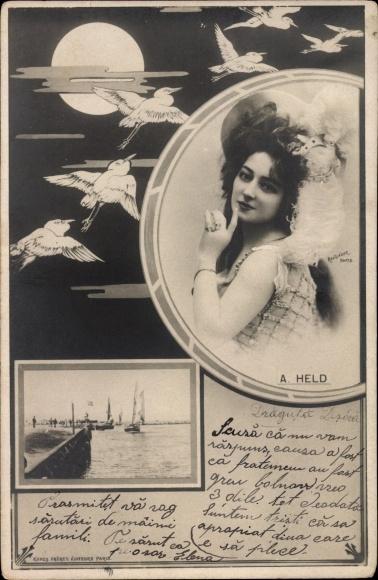Passepartout Ak Schauspielerin Anna Held, Polnisch-Französischer Abstammung, Jüdischer Herkunft