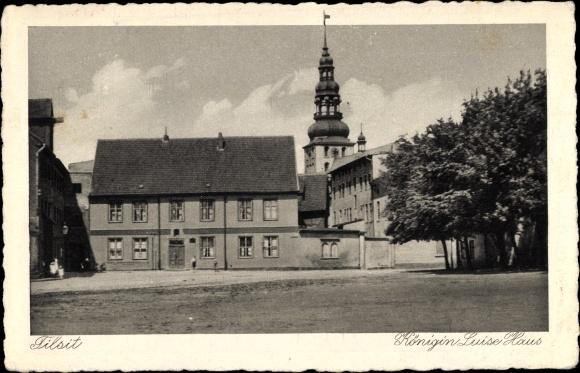 Ak Sowjetsk Tilsit Ostpreußen, Blick auf Königin Luise Haus