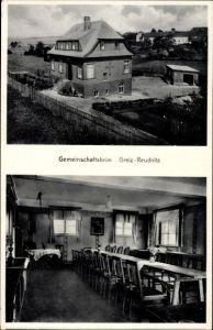 Ak Reudnitz Mohlsdorf Teichwolframsdorf in Thüringen, Gemeinschaftsheim