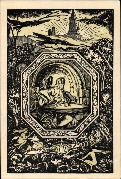 Künstler Ak Bad Frankenhausen im Kyffhäuserkreis, Festkarte 25 Jahre Kyffhäuserdenkmal 19.6.1921