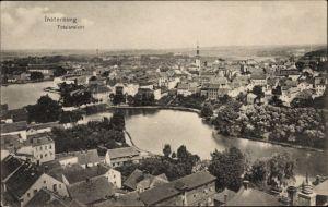 Ak Tschernjachowsk Insterburg Ostpreußen, Totalansicht von Ort