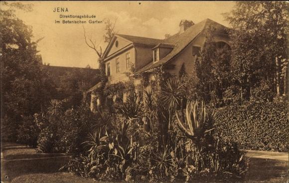 Ak Jena in Thüringen, Direktionsgebäude im Botanischen Garten