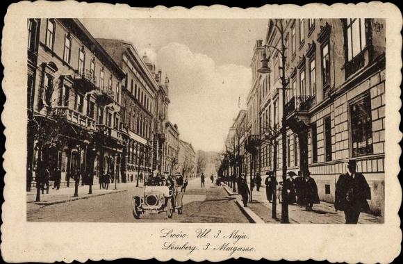 Ak Lwów Lemberg Ukraine, Ulica 3go Maja, 3. Mai Gasse