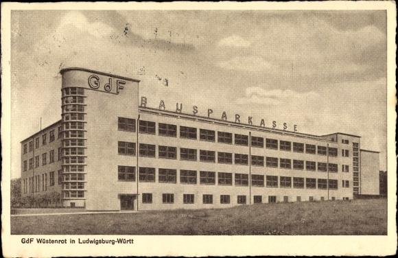 Ak Ludwigsburg in Baden Württemberg, GdF Wüstenrot, Bausparkasse
