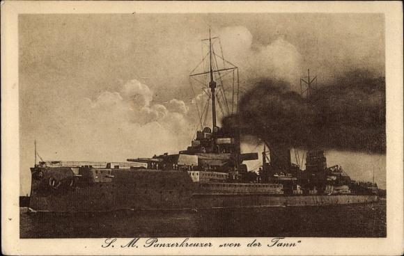 Ak Deutsches Kriegsschiff SM Panzerkreuzer von der Tann, Kaiserliche Marine