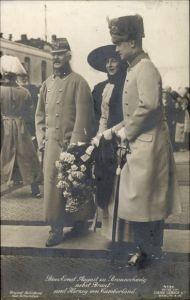 Ak Herzog Ernst August von Braunschweig mit Braut, Herzog von Cumberland, Liersch 4139