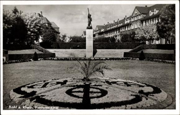Ak Kehl am Rhein Ortenaukreis Baden Württemberg, Pionierdenkmal