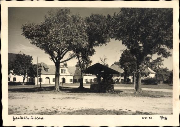 Ak Baltijsk Pillau Kaliningrad Ostpreußen, Zitadelle, Brunnen, Popp Verlag 6126-53