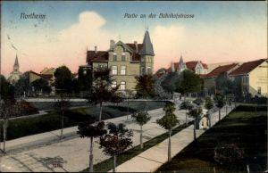 Ak Northeim in Niedersachsen, Partie an der Bahnhofstraße