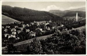 Ak Duszniki Zdrój Bad Reinerz Schlesien, Panorama von Ort und Umgebung
