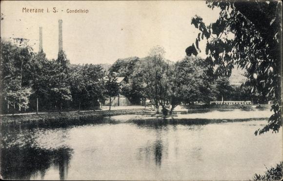 Ak Meerane in Sachsen, Partie am Gondelteich