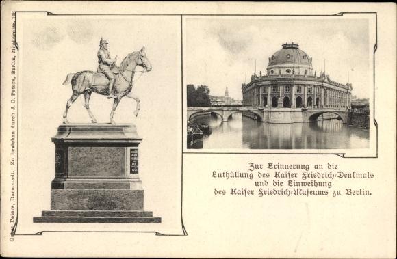 Ak Berlin Mitte, Kaiser Friedrich Denkmal, Kaiser Friedrich Museum, Museumsinsel