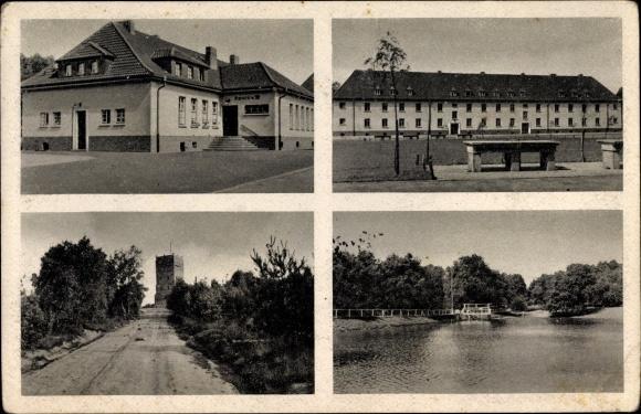Ak Wahn Köln Nordrhein Westfalen, Truppenübungsplatz Wahner Heide, Kantine, Turm