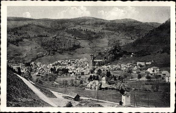 Ak Todtnau im Südschwarzwald Kreis Lörrach, Gesamtansicht der Stadt