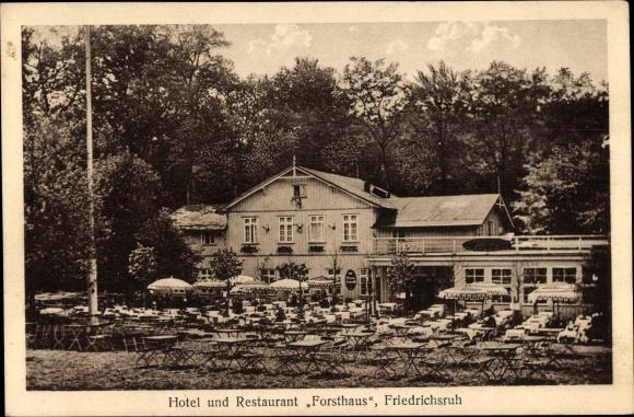 Ak Friedrichsruh Aumühle in Schleswig Holstein, Hotel und Restaurant Forsthaus, Inh. T. Bollow
