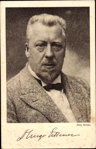 Ak Hugo Eckener, Nachfolger Graf Zepplins, Portrait, Zeppelin Eckener Spende