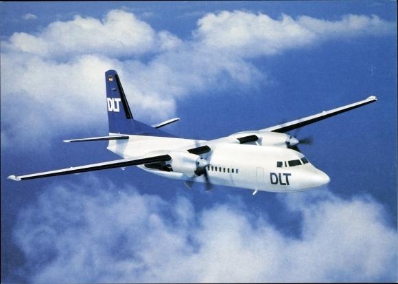 Ak Deutsches Passagierflugzeug, DLT, Fokker 50