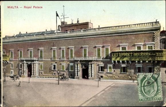 Ak Malta, Royal Palace, Königlicher Palast