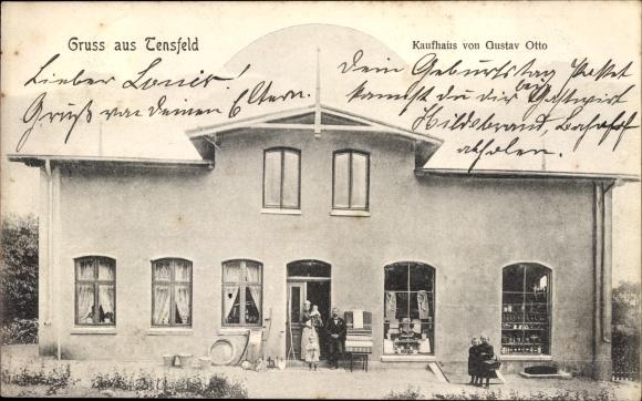 Ak Tensfeld in Schleswig Holstein, Kaufhaus von Gustav Otto