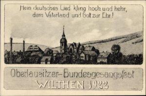 Künstler Ak Hölzel, E., Wilthen im Kreis Bautzen Sachsen, Oberlausitzer Bundesgesangsfest 1922