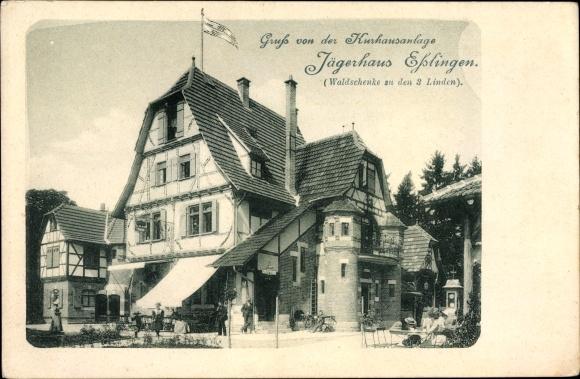 Ak Esslingen am Neckar Baden Württemberg, Kurhausanlage Jägerhaus ...