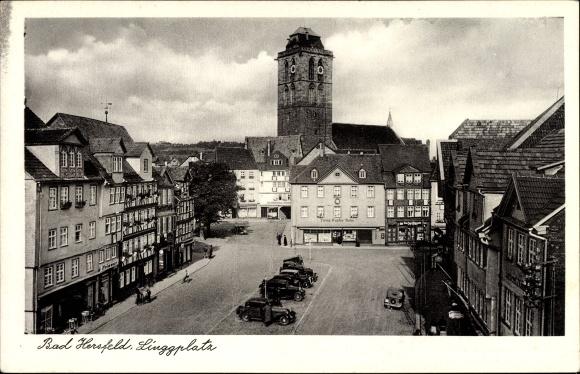 Ak Bad Hersfeld in Hessen, Linggplatz, Kirche, Geschäfte, Firma Sophie Rehn