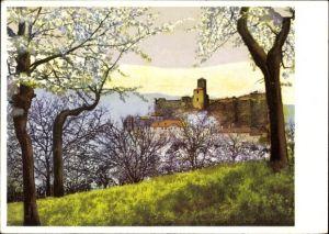 Ak Střekov Schreckenstein Ústí nad Labem Aussig Elbe Stadt Reg. Aussig,Nenke und Ostermaier 436 5549
