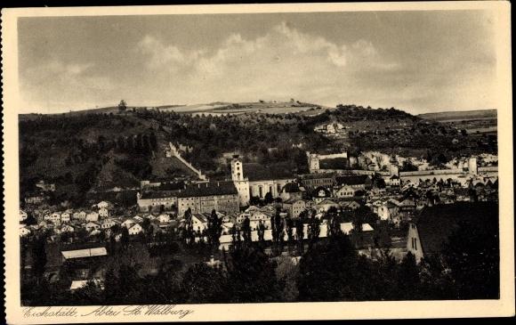Ak Eichstätt in Oberbayern, Abtei St. Walburg, Stadtpanorama