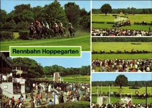 Ak Hoppegarten in Brandenburg, VEB Vollblutrennbahnen, Pferderennen, Zuschauer