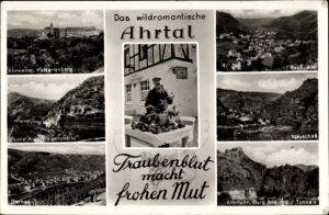 Ak Bad Neuenahr Ahrweiler in Rheinland Pfalz, Traubenblut macht frohen Mut, Mayschoß, Rech, Dernau