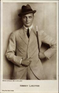 Ak Schauspieler Harry Liedtke, Portrait im Anzug mit Hut, Ross Verlag 449 3