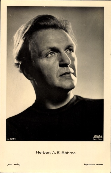 Ak Schauspieler Herbert A. E. Böhme, Portrait, Ross Verlag A 2514 1