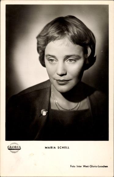 Ak Schauspielerin Maria Schell, Portrait, Herr über Leben und Tod