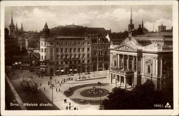 Ak Brno Brünn Südmähren, Mestske divadlo, Stadttheater