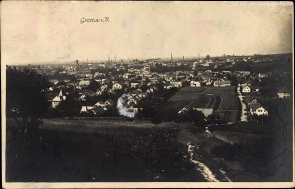 Foto Ak Hrádek nad Nisou Grottau Reg. Reichenberg, Totalansicht vom Ort