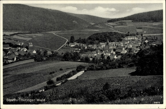 Ak Struth Rodeberg Thüringen, Totalansicht vom Ort