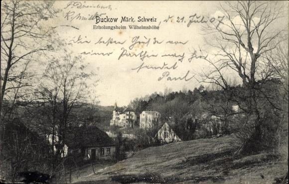 Ak Buckow in der Märkischen Schweiz, Erholungsheim Wilhelmshöhe
