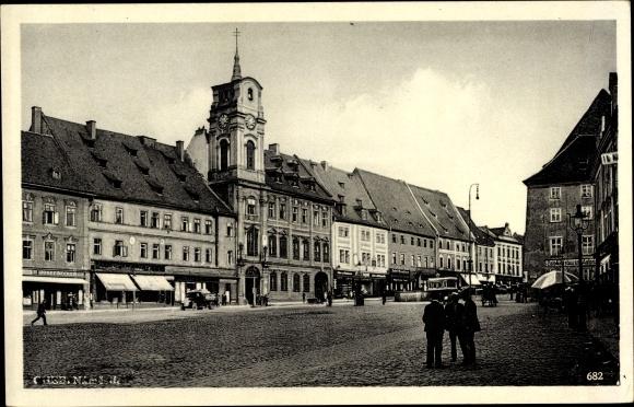 Ak Cheb Eger Reg. Karlsbad, Namesti, Marktplatz, Rathaus